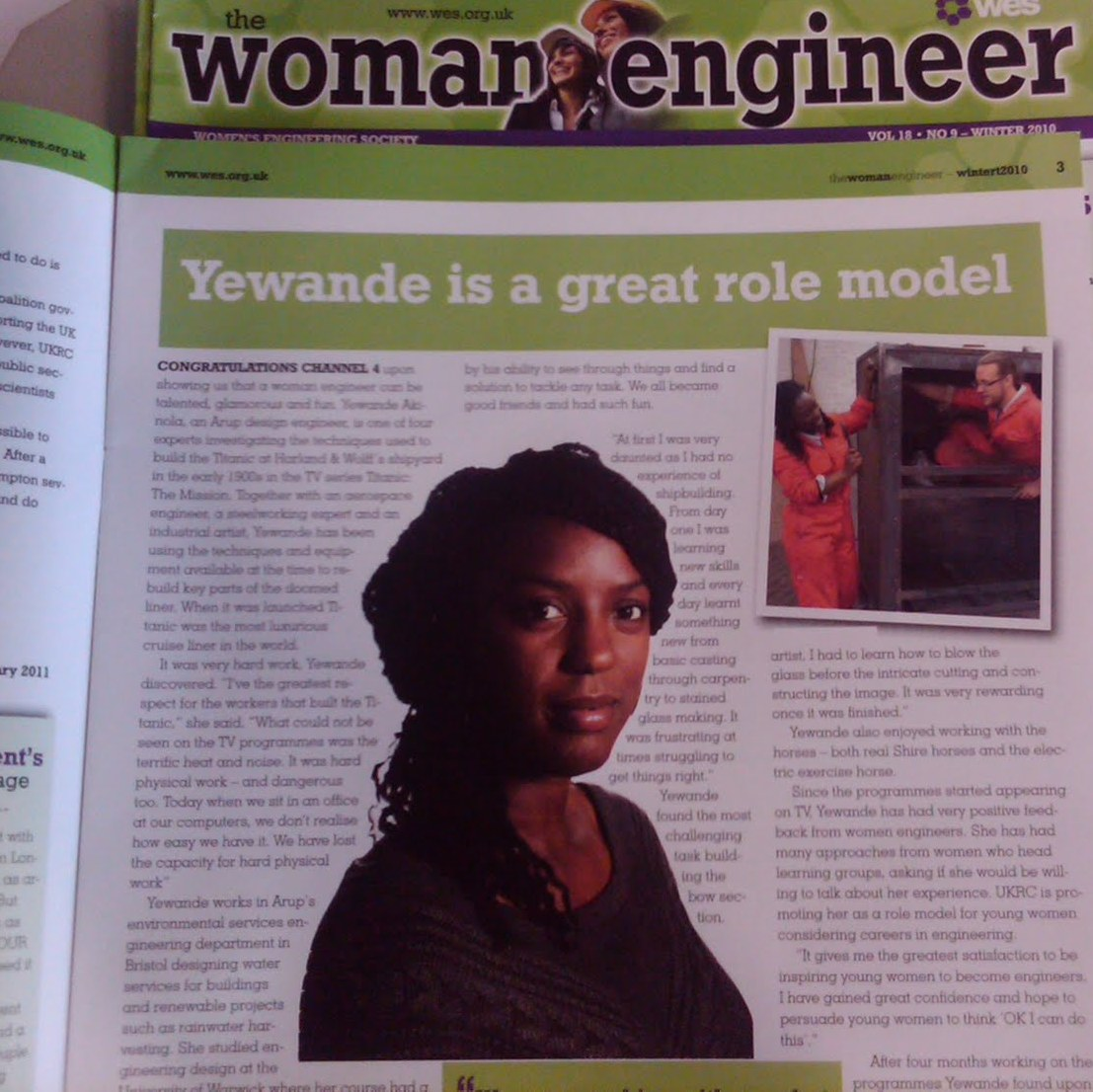 Nigerian Engineer Yewande Akinola is making waves with projects in the world