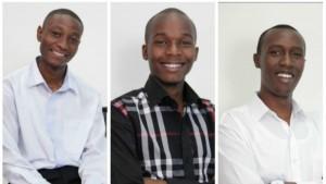 Piero Muguna Mbaabu, Joshua Mutua Nzuki and Kelvin Githuka Kihiu, founders of KejaHunt