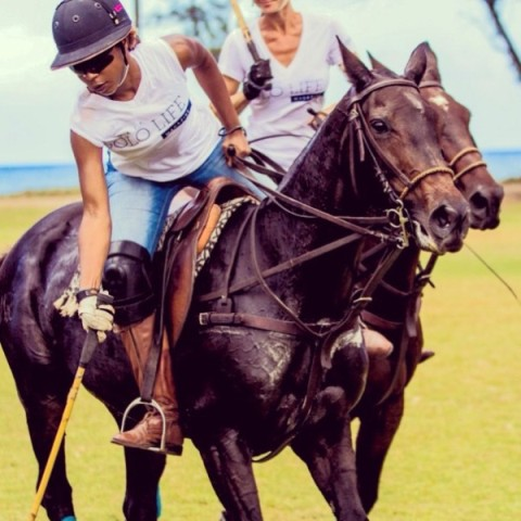 Uneku Atawodi, the world's 1st and only black female professional polo player