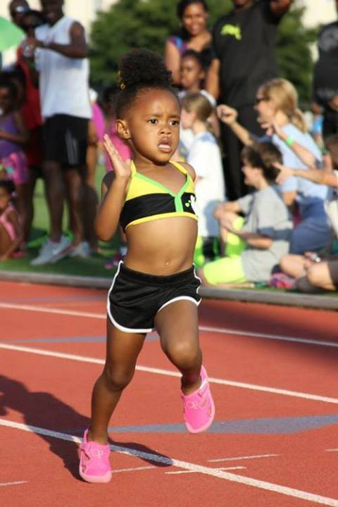 Determination is the key to success. Future Olympian no doubt.