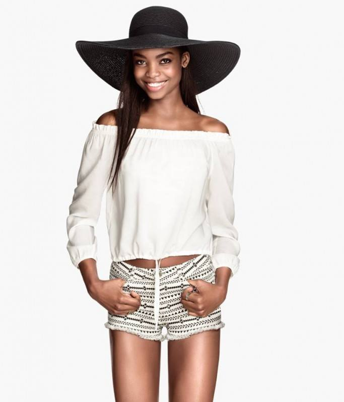 Angolan model MariaBorges for H&M's S  S 14 collection