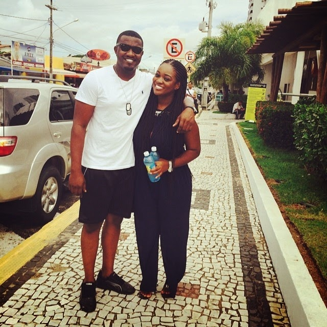 Spotted: Jackie Appiah and John Dumelo in Brazil