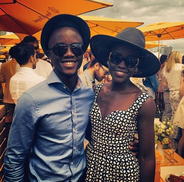 Spotted: Lupita Nyong'o in Alexander McQueen at Polo Event..
