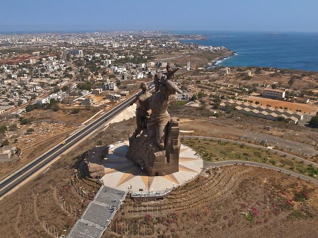 Monument to African Renaissance dakar senegal africa