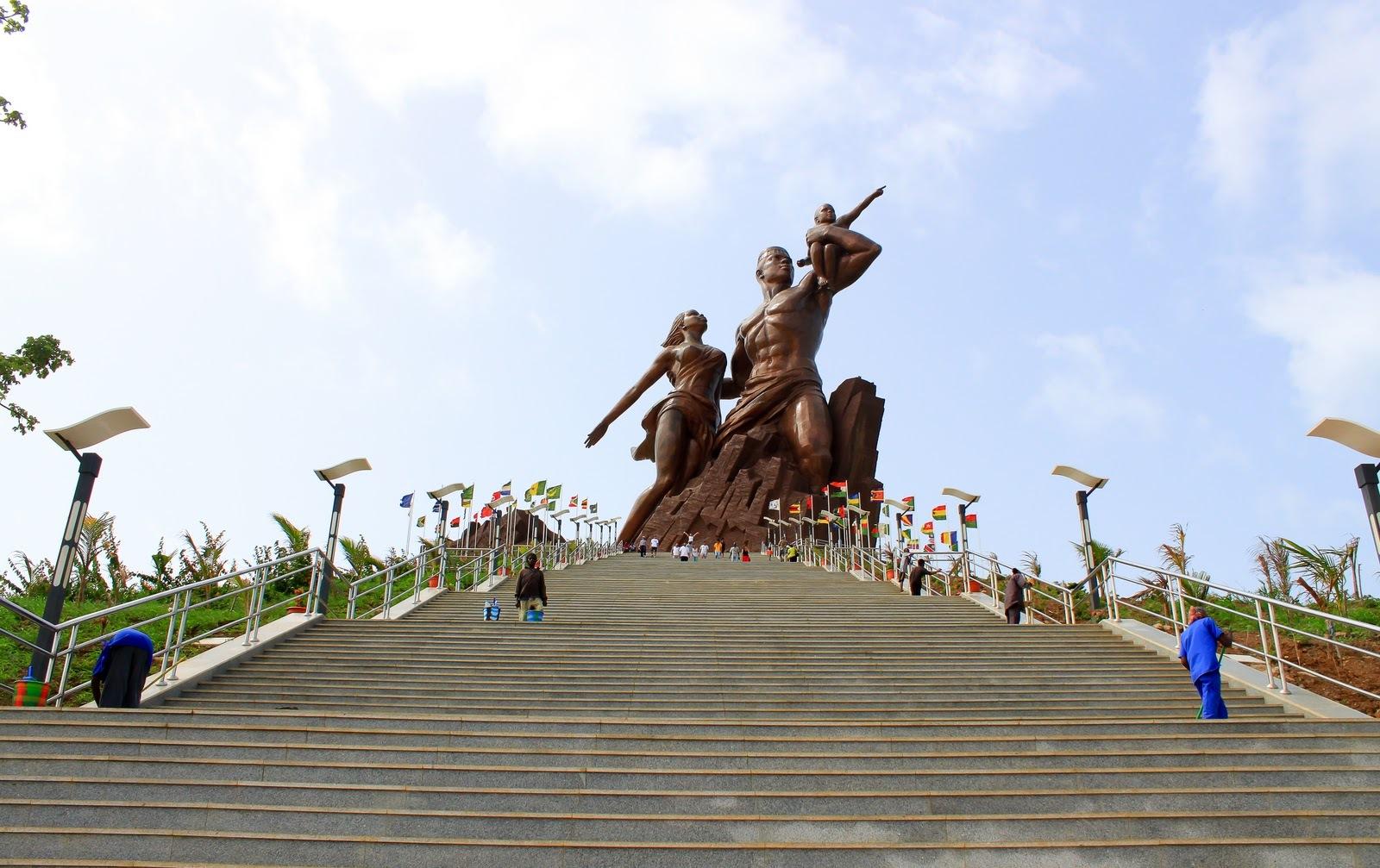 The Monument to African Renaissance Dakar  Senegal,