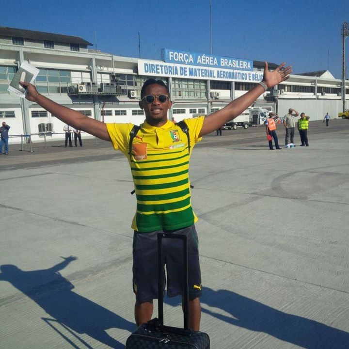 "Samuel Eto posted this photo with the caption ""Welcome To Brazil"""