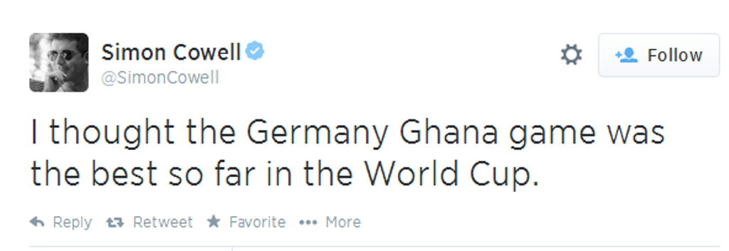 Simon Cowell: Germany vs Ghana  Game The Best 2014 World Cup so far