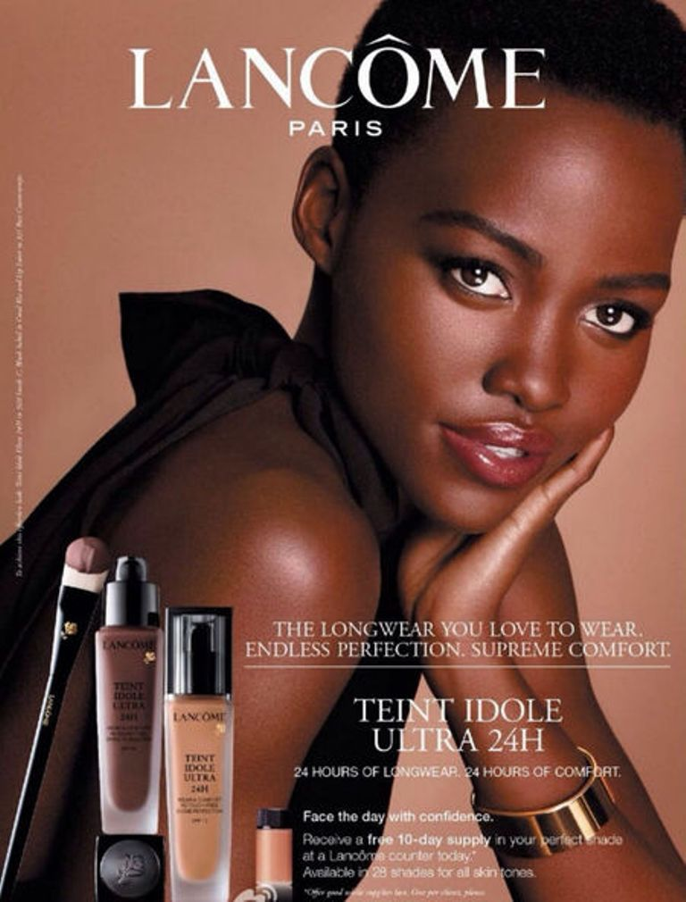 Lupita as the new face of Lancôme