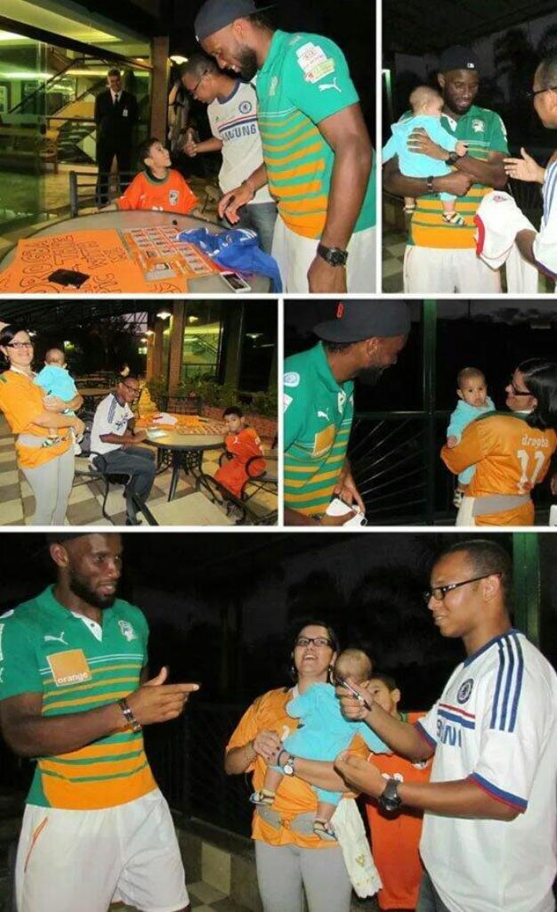 A Brazilian family pays tribute to Drogba