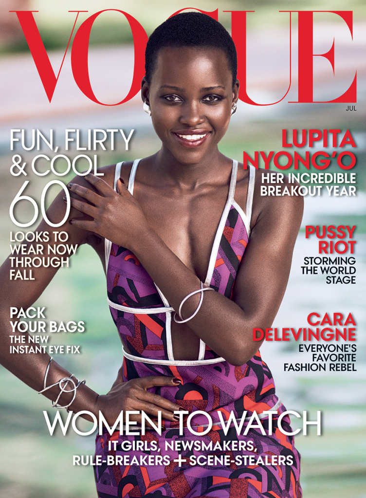 Lupita on the latest cover of Vogue Magazine!