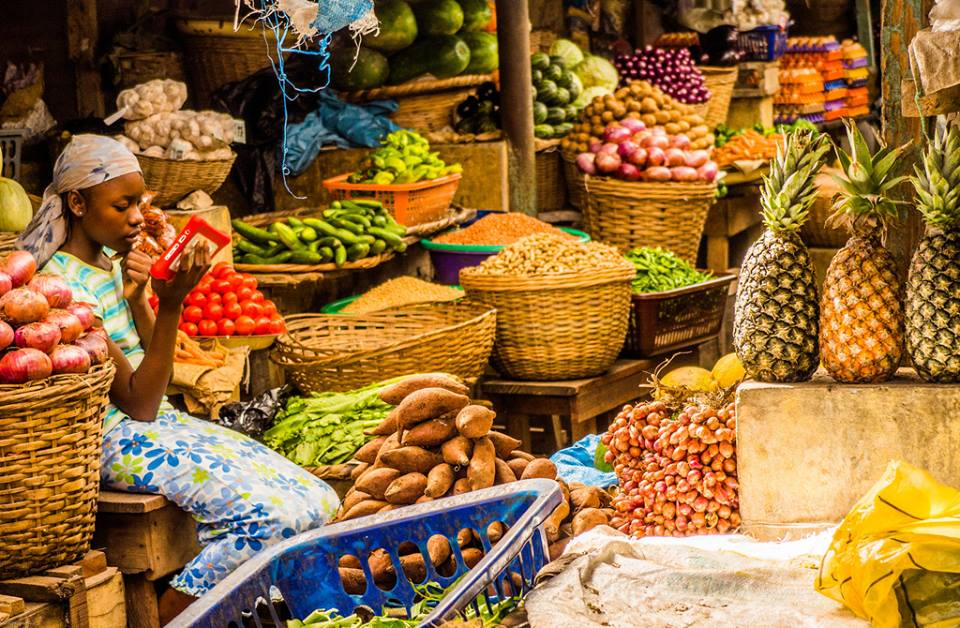 Market in Africa… always so much to choose from!