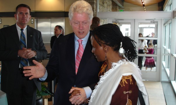 Tererai Trent and Clinton