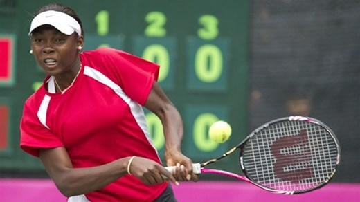 Françoise Abanda of Cameroon descent is a Canadian junior tennis player