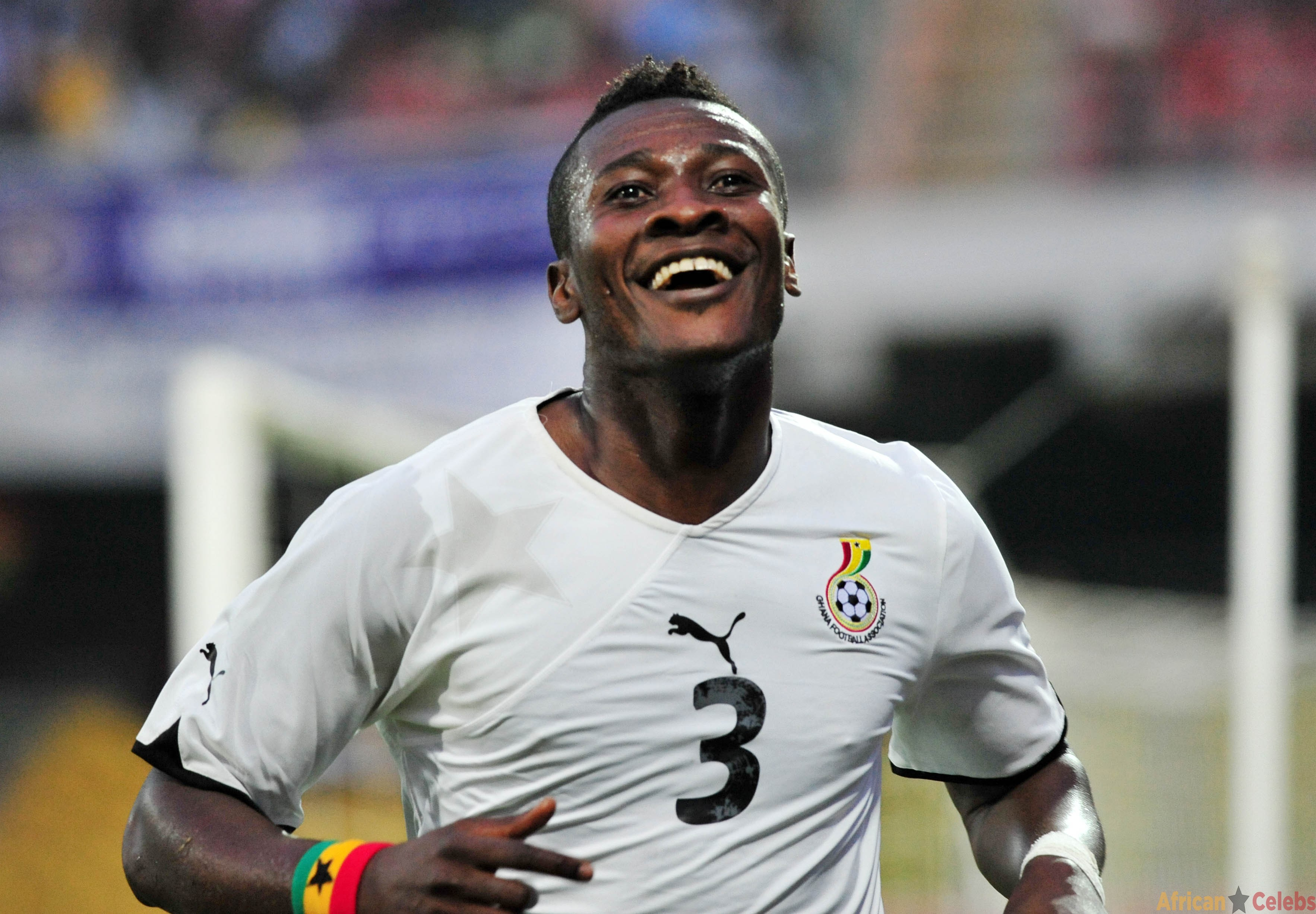 Ghana captain Asamoah Gyan and his wife have been blessed with a baby girl