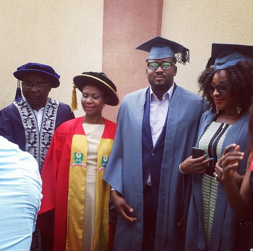 Nigeria Open University: Ini Edo & Desmond Elliot at their National Matriculation Ceremony