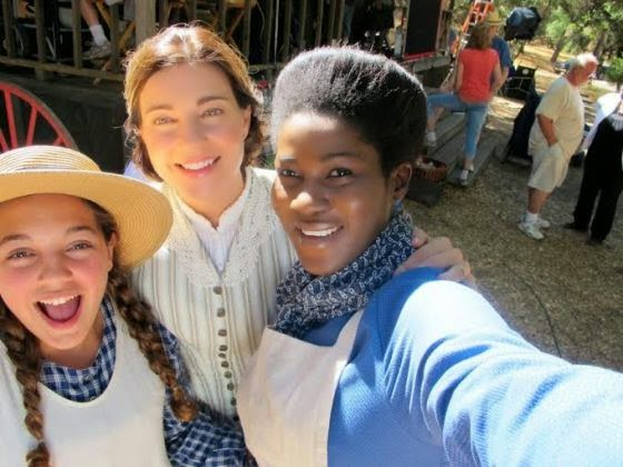 Stephanie Linus on set of new Hollywood Western Movie