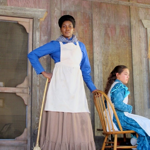 Stephanie Okereke Linus on set of new Hollywood Western Movie  Boonville Redemption