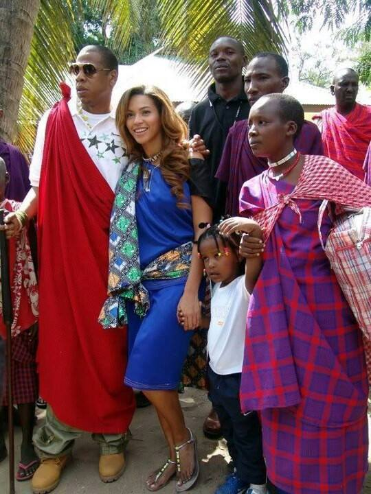 Beyonce and Jay Z in Tanzania.