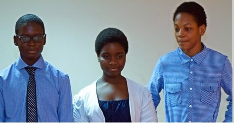 Denzel Segbefia (right) with Carolyn Asante-Dartey (middle) and Nii Aryee Aryeetey (left)