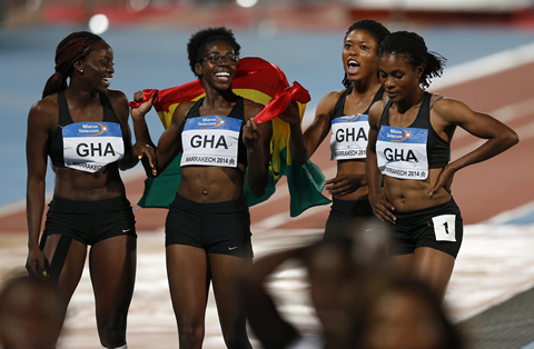 2014 Marrakech women 4x100m relay: Bronze medal for Ghana … fastest time in 14yrs !