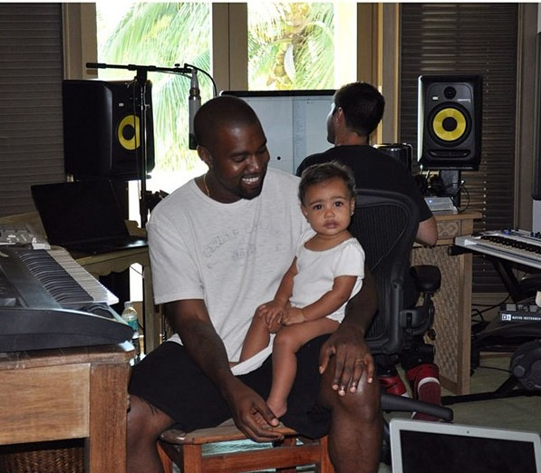Kanye West Takes Baby North To Work