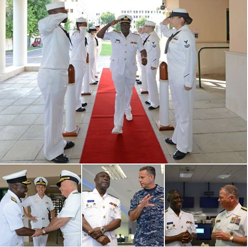 Rear Adm. Geoffrey Mawuli Biekro, Chief of the Naval Staff for the Ghana Armed Forces Visits Naples