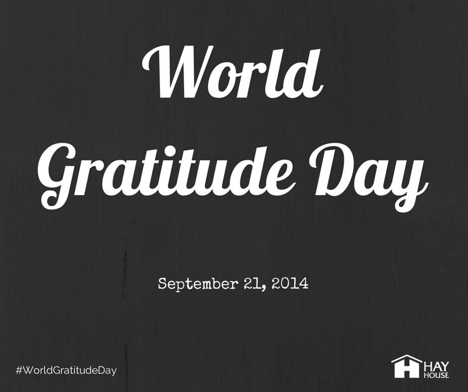Happy World Gratitude Day! What are you grateful for today?