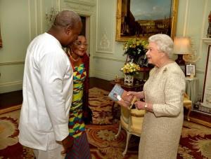President John Dramani Mahama and the Queen