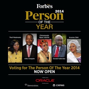Forbes Africa Person Of The Year 2014