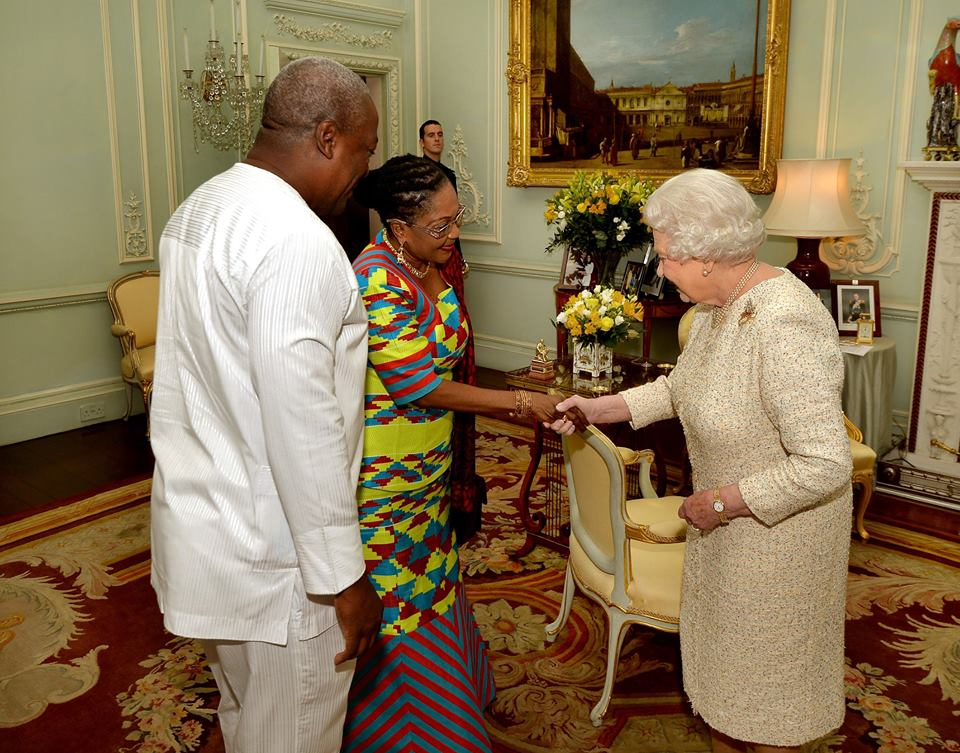 President John Mahama and wife visits Queen at Buckingham Palace