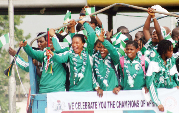 Congratulations! Super Falcons Of Nigeria Beat Lionessess of Cameroon