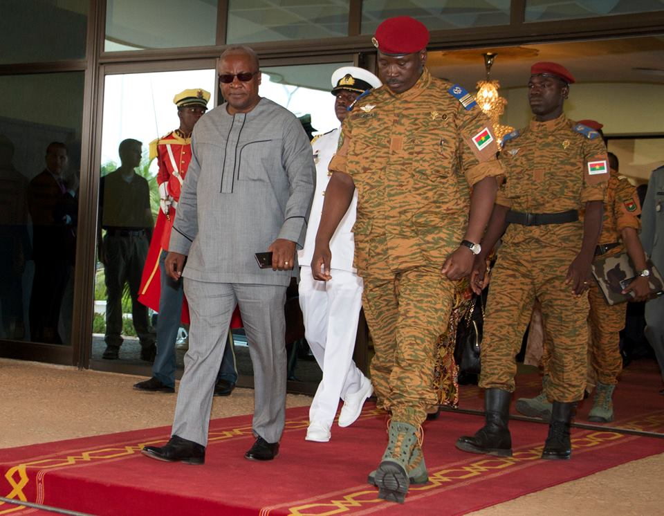 President John Mahama is in Ouagadougou