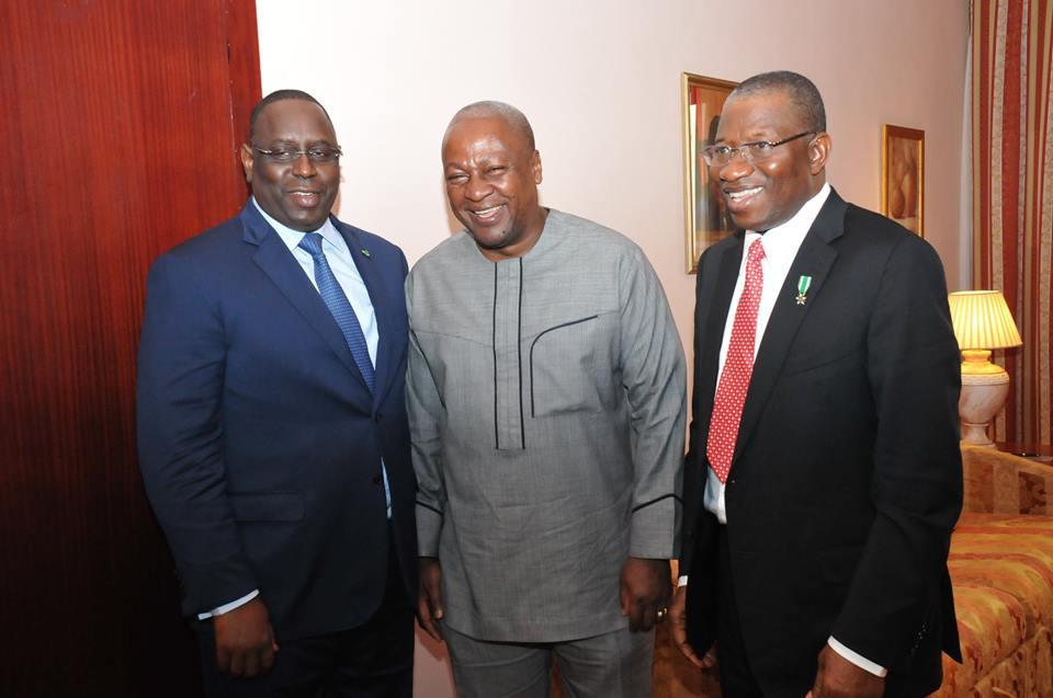 President Macky Sall of Senegal, President John Mahama  of Ghana & President Goodluck Jonathan of Nigeria