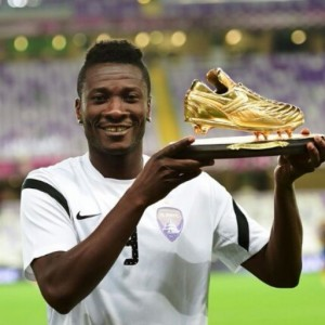Captain Asamoah Gyan awarded 2014 AFC Foreign Player of the Year