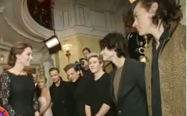 Prince William and Kate Middleton Meet One Direction Band
