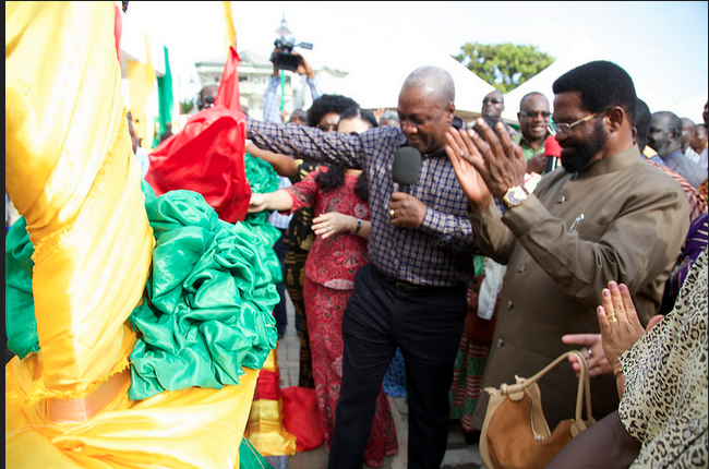 President John Dramani Mahama inaugurated another ultra modern school complex at Okpoti