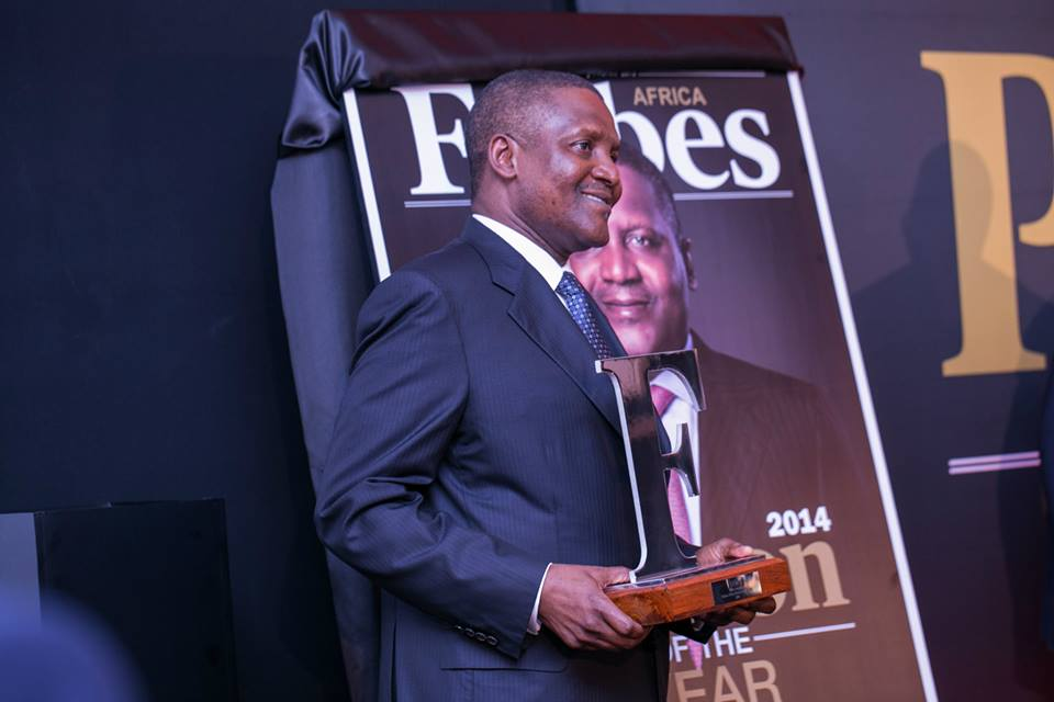 Congrats! Aliko Dangote Wins Forbes Africa Person Of The Year 2014