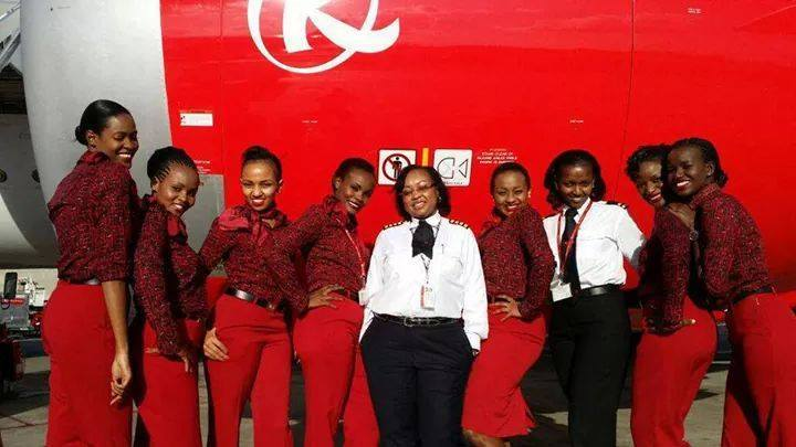 All women from Captain to cabin crew