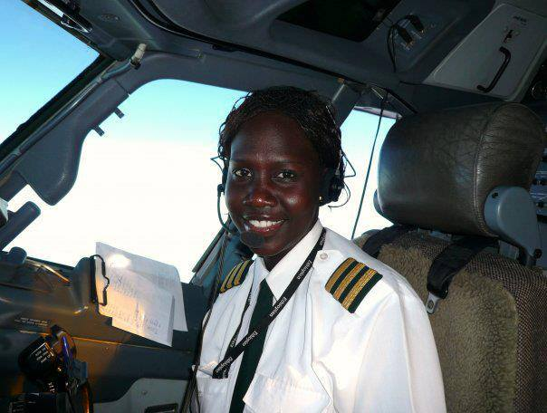 Aluel Bol is the first South Sudanese (Woman) commercial pilot
