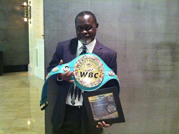 Azumah Nelson crowned WBC Super Featherweight greatest of all time in Las Vegas