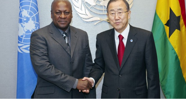 UN Secretary General Ban Ki Moon Visits West Africa