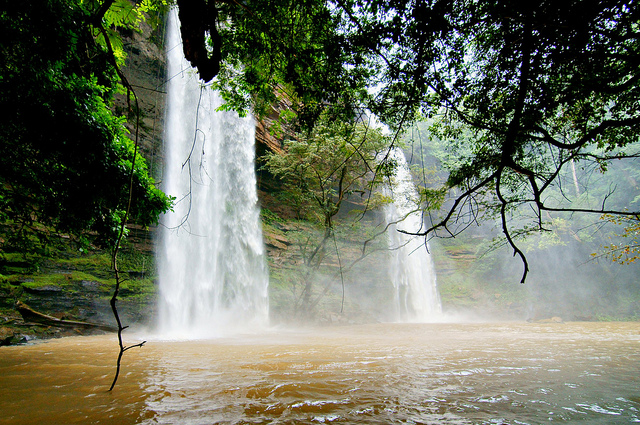 Boti falls is a twin waterfall located at Boti in the Eastern Region of Ghana