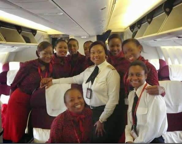 Kenyan international Flight crew made of all women from Captain to cabin crew