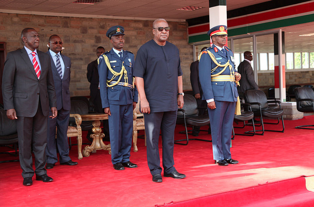 President Mahama of Ghana in Kenya for 3 day state visit