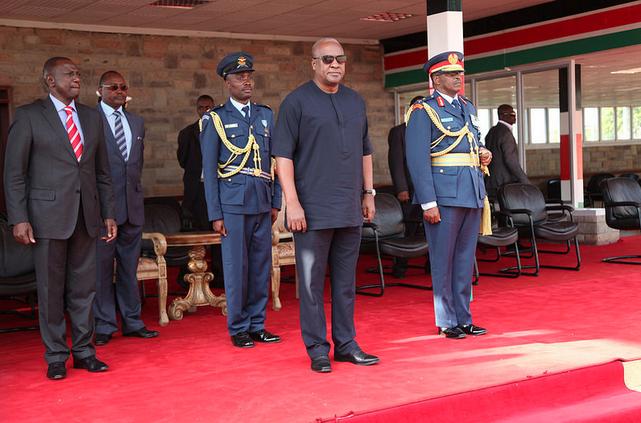 President Mahama of Ghana in Kenya for 3 day state visit