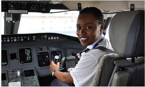 RWANDA'S First Female Pilot Esther Mbabazi.