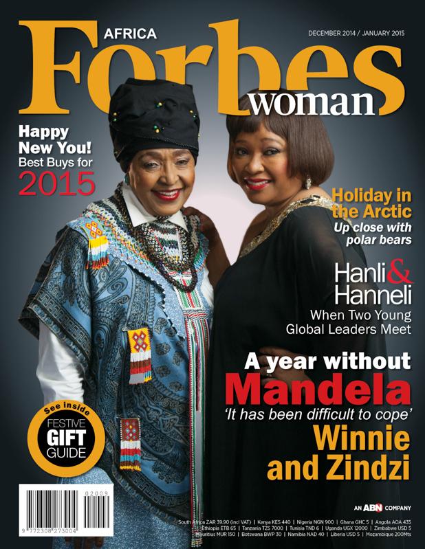 Winnie Mandela and Zindzi Mandela Cover Forbes Woman Africa
