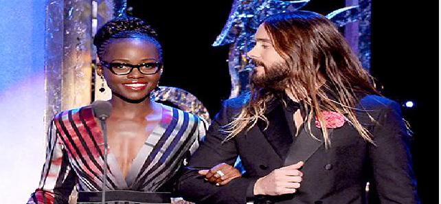 Jared Leto, Lupita Nyongo Present Together at 2015 SAGs