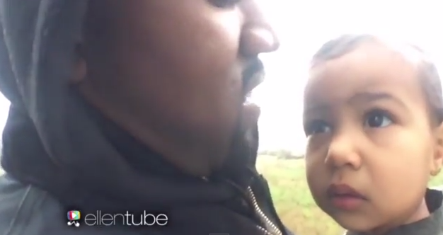 Kanye West debuts new music video starring North on Ellen