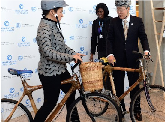 Bamboo bikes turn around fortunes for working women in Ghana